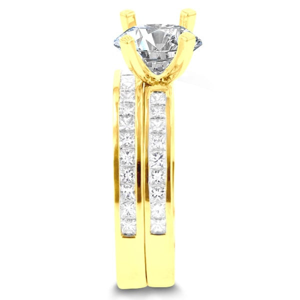 14k Yellow Gold 2.05ct. TDW Diamond Bridal Set