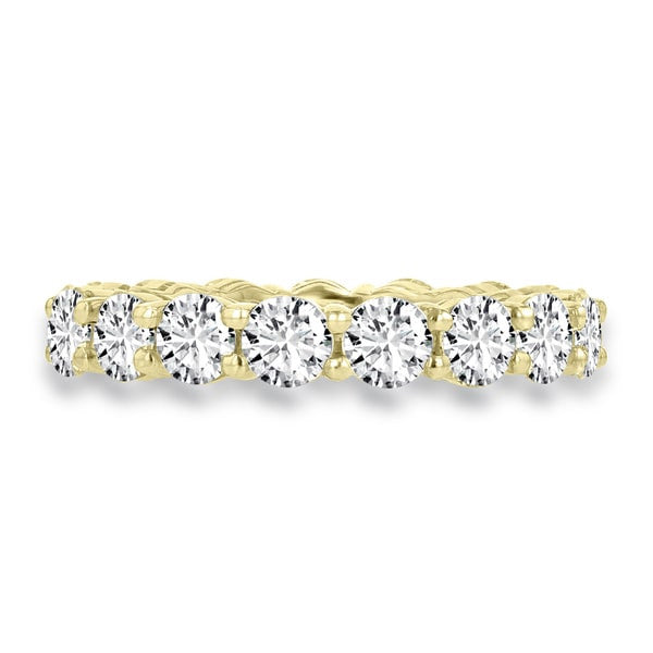 14K Yellow Gold 4.00 cts TDW Round Diamond Wedding Band