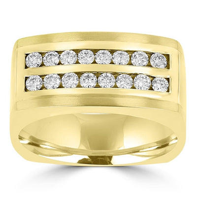 14k Yellow Gold Men's 3/4ct TDW Diamond Ring