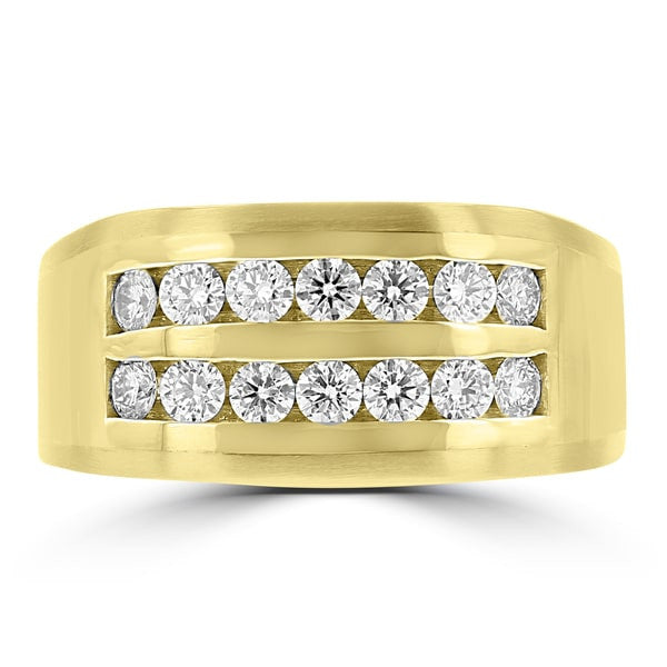 14k Yellow Gold Men's 1.00cts TDW Diamond Ring