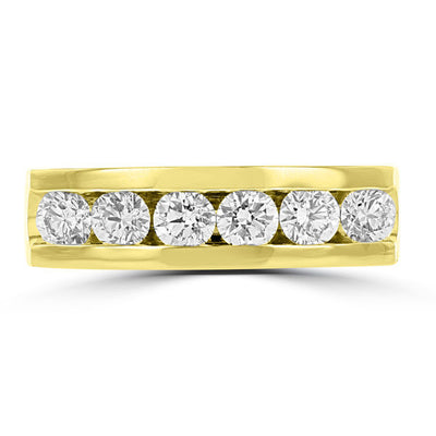 14k Yellow Gold Men's Diamond 1.50cts TDW Ring