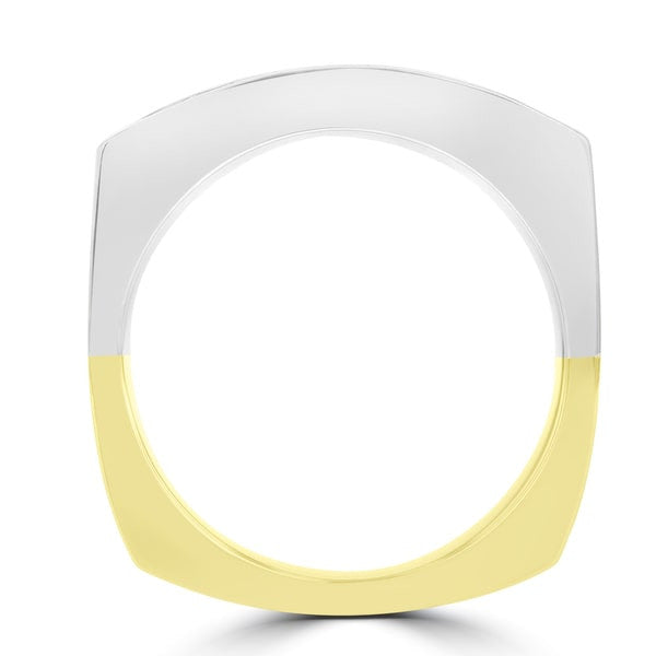 14k Yellow and White Gold Men's Diamond Ring 1 1/2cts TDW