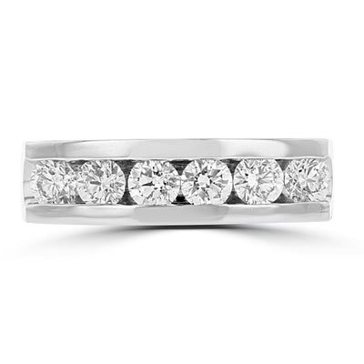 14k White Gold Men's Diamond Ring 1 1/2cts TDW