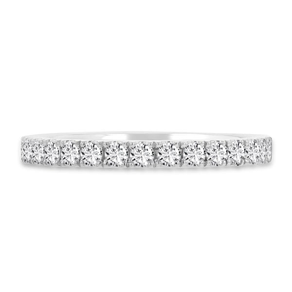 14K Gold White Diamond 0.55ct TDW Wedding Band