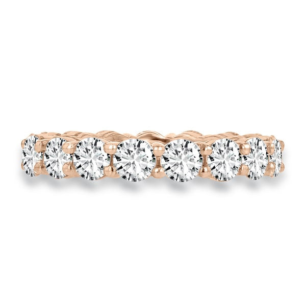 14K Rose Gold Diamond 4.00ct TDW Wedding Band