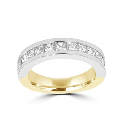 14k White/Yellow Gold Diamond 1 7/8ct TDW Wedding Band