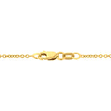 14K YG Gold Quartz Inlay and Diamond 0.16cts (SI1-VS, G-H ) Whale Tail Necklace