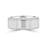 .83ct TDW 14 Karat High Polish White Gold Men's Diamond Ring
