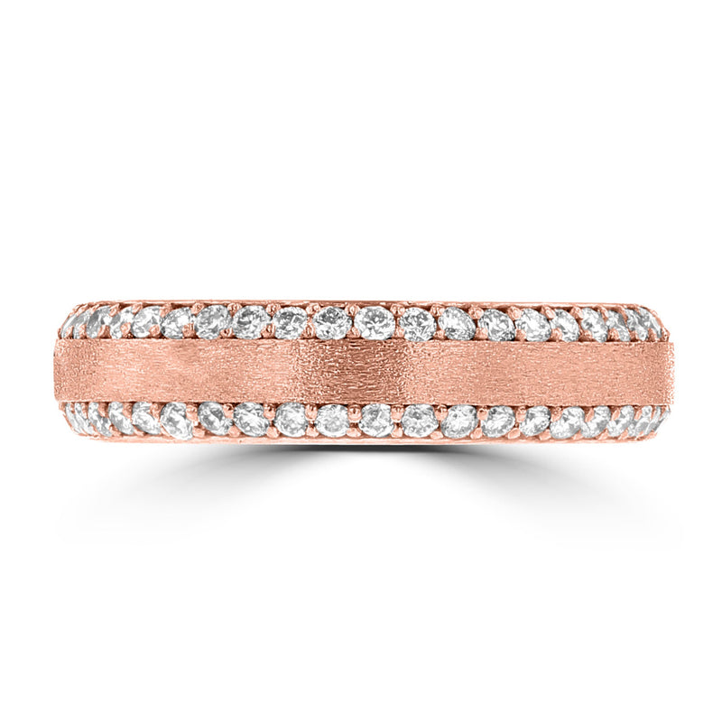 .60ct TDW 14 Karat Rose Gold Diamond Ring