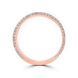 .83ct TDW 14 Karat Rose Gold Men's Diamond Ring