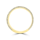 14K Yellow gold Men's 0.83CT TDW diamond wedding band