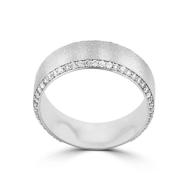 .83ct TDW 14 Karat White Gold Men's Diamond Ring