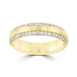 .60ct TDW 14 Karat Yellow Gold Diamond Ring