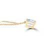 14k Solitaire Diamond Pendant
