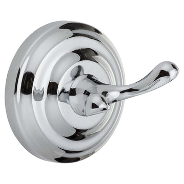 Image Of Robe Hook / Towel Hook -  Savannah Bathroom Hardware Set  - Chrome Finish - Harney Hardware