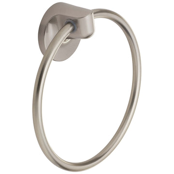 Image Of Towel Ring -  Harbor Isle Bathroom Hardware Set - Satin Nickel Finish - Harney Hardware