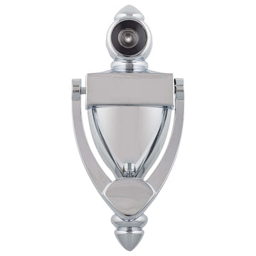 Image Of Door Knocker Viewer -  5 1/4 In. With 9/16 In. Bore 180 Degree Viewer - Chrome Finish - Harney Hardware