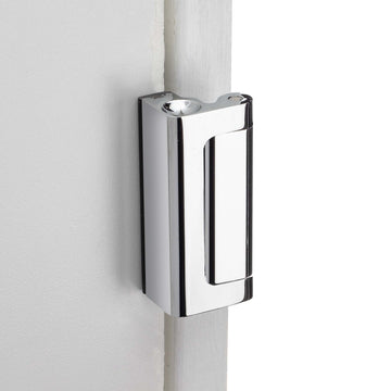 Image Of Security Door Guard -  Heavy Duty - Chrome Finish - Harney Hardware