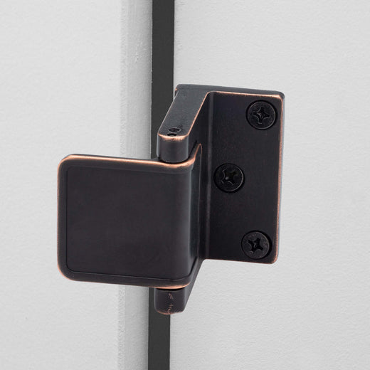 Image Of Security Door Guard -  Commercial - Venetian Bronze Finish - Harney Hardware