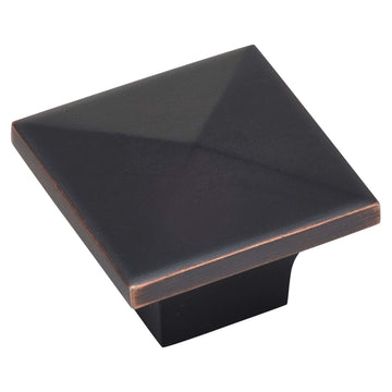 Image Of Cabinet Knob -  Pyramid Square -  1 1/4 In. Wide - Venetian Bronze Finish - Harney Hardware