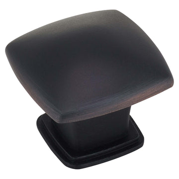 Image Of Cabinet Knob -  Pyramid Square -  1 3/16 In. Wide - Venetian Bronze Finish - Harney Hardware