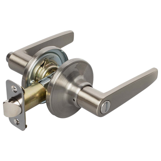 Image Of Electra Bed / Bath / Privacy Door Lever Set - Satin Nickel Finish - Harney Hardware
