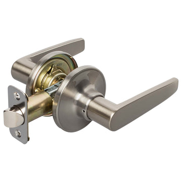 Image Of Electra Closet / Hall / Passage Door Lever Set - Satin Nickel Finish - Harney Hardware