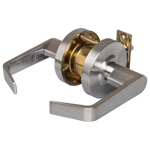 Image Of Vigilant Commercial Door Lever Set -  Classroom / Keyed Function -  UL Fire Rated -  ANSI 2 - Satin Chrome Finish - Harney Hardware