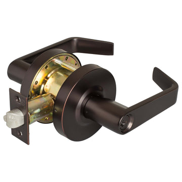 Image Of Vigilant Commercial Door Lever Set -  Classroom / Keyed Function -  UL Fire Rated -  ANSI 2 - Oil Rubbed Bronze Finish - Harney Hardware