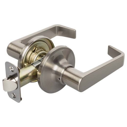 Image Of Largo Closet / Hall / Passage Door Lever Set - Satin Nickel Finish - Harney Hardware
