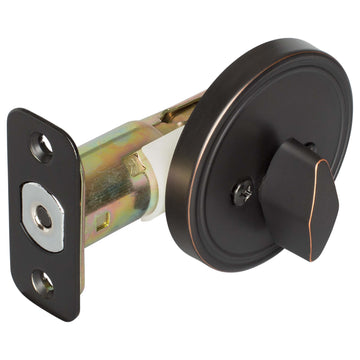 Image Of Single Sided Keyless Deadbolt - Venetian Bronze Finish - Harney Hardware