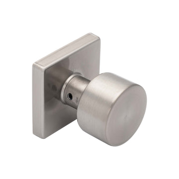 Image Of Oaklyn Inactive / Dummy Contemporary Door Knob - Satin Nickel Finish - Harney Hardware