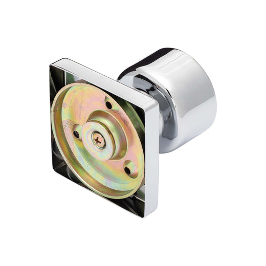 Image Of Oaklyn Inactive / Dummy Contemporary Door Knob - Chrome Finish - Harney Hardware