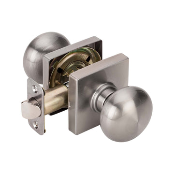 Image Of Kendall Closet / Hall / Passage Door Knob Set - Satin Nickel Finish - Harney Hardware
