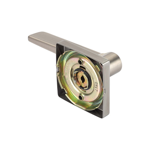 Image Of Palm Inactive / Dummy Door Lever -  Contemporary - Satin Nickel Finish - Harney Hardware