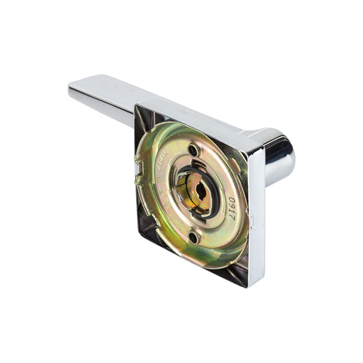 Image Of Palm Inactive / Dummy Door Lever -  Contemporary - Chrome Finish - Harney Hardware