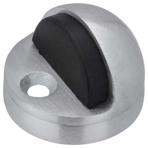 Image Of Dome Stop -  Adjustable High And Low Profile - Satin Chrome Finish - Harney Hardware