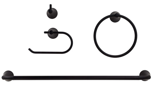 Image Of Duval Matte Black Bathroom Hardware Set - Matte Black Finish - Harney Hardware