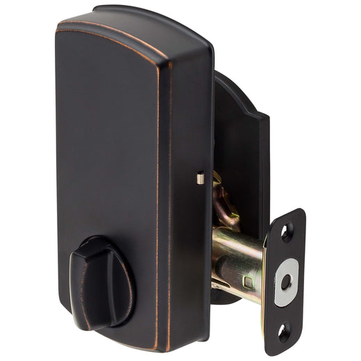 Image Of Electronic Keyless Deadbolt -  Arch Top Escutcheon - Venetian Bronze Finish - Harney Hardware