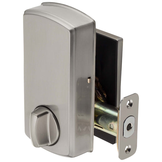 Image Of Electronic Keyless Deadbolt -  Square Escutcheon - Satin Nickel Finish - Harney Hardware