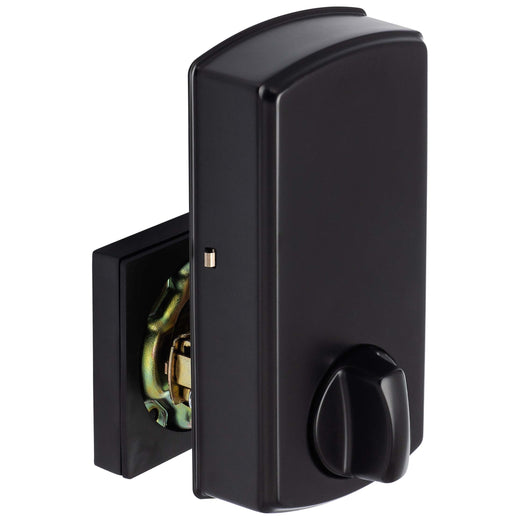 Image Of Bluetooth Electronic Keyless Deadbolt -  Square Escutcheon - Matte Black Finish - Harney Hardware