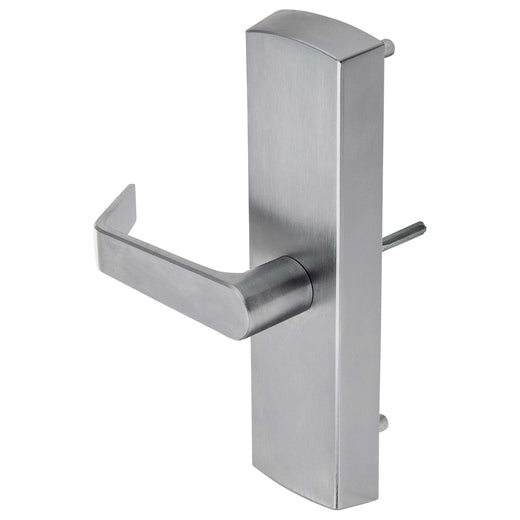 Image Of Panic Exit Device Passage/ Hallway Function Escutcheon Lever Trim - Satin Chrome Finish - Harney Hardware
