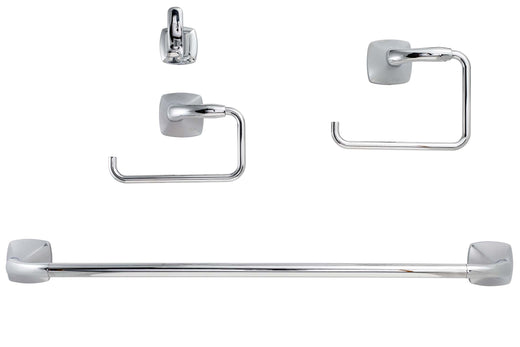 Image Of Wynwood Chrome Bathroom Hardware Set - Chrome Finish - Harney Hardware