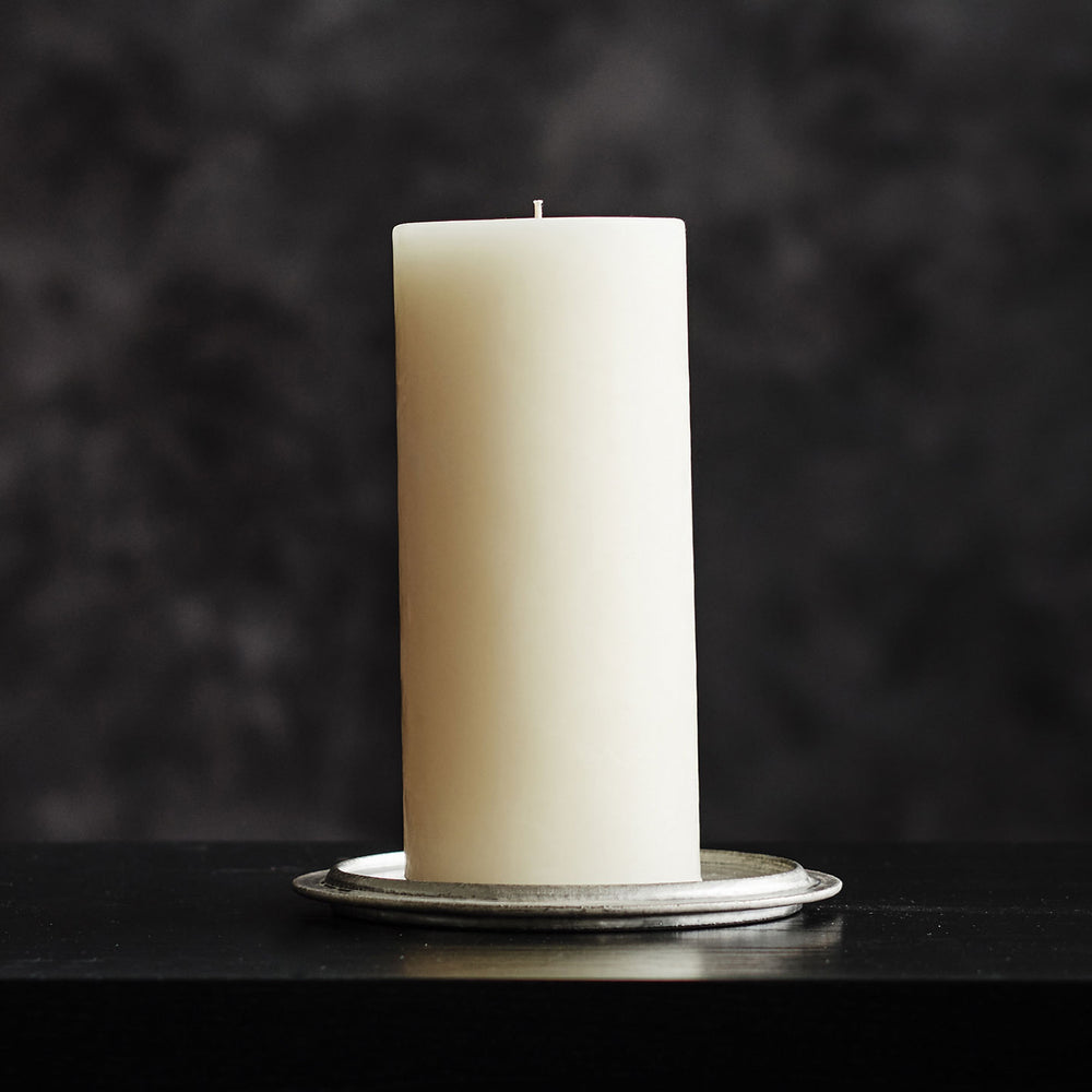 Creative Candles Beeswax Hurricane Pillar Candle