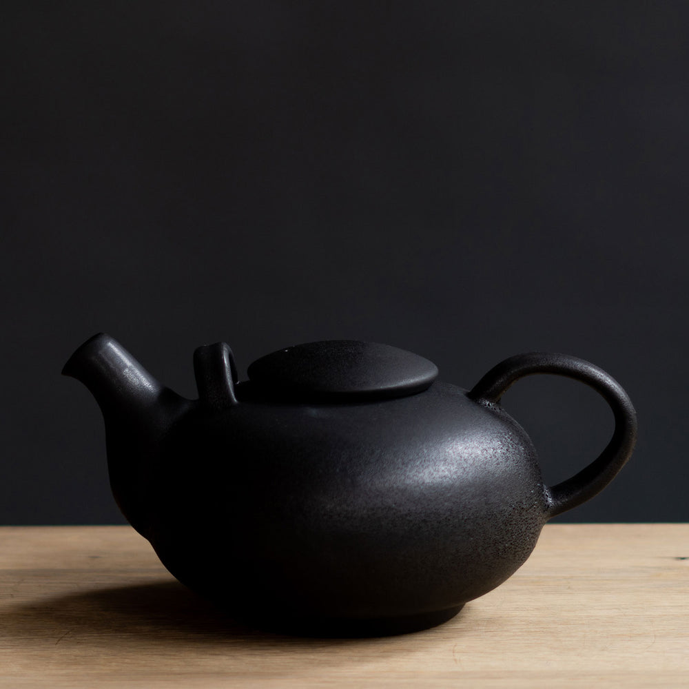 Rounded Teapot Black