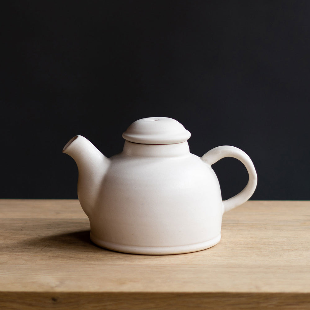 White Ceramic Tea Kettle