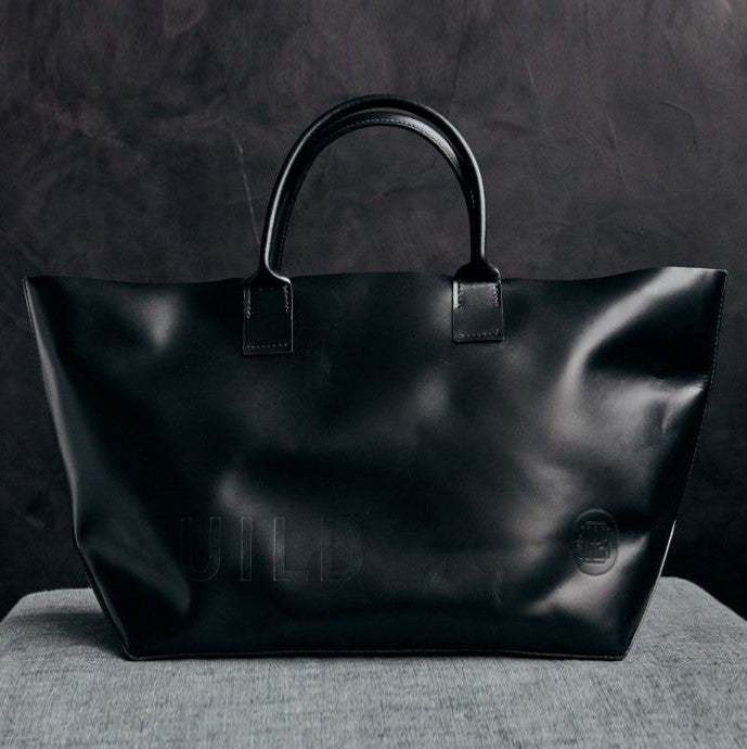 RW Guild Black Leather Tote Bag
