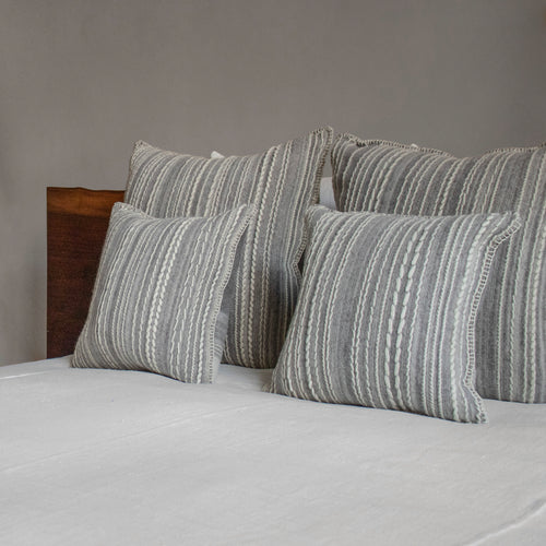 The Good Shepherd Grey Wool Pillow