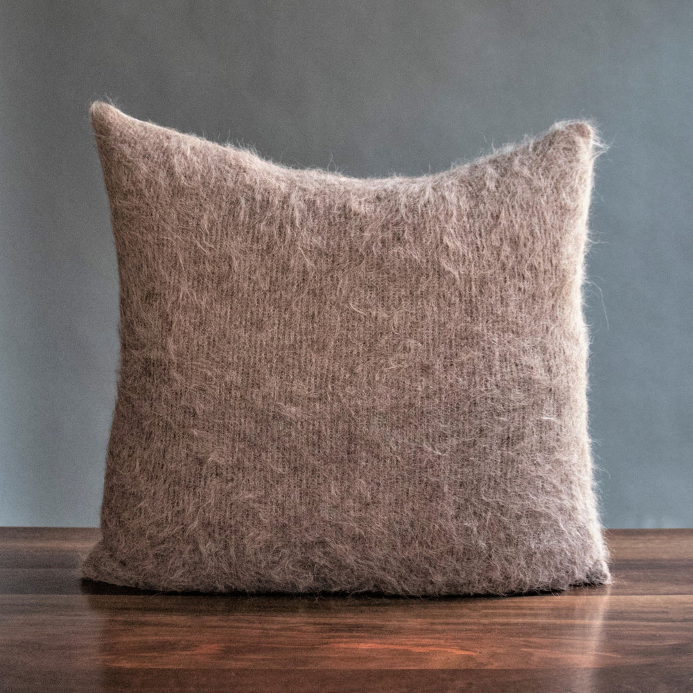 Alicia Adams Alpaca Shaggy Taupe Pillow