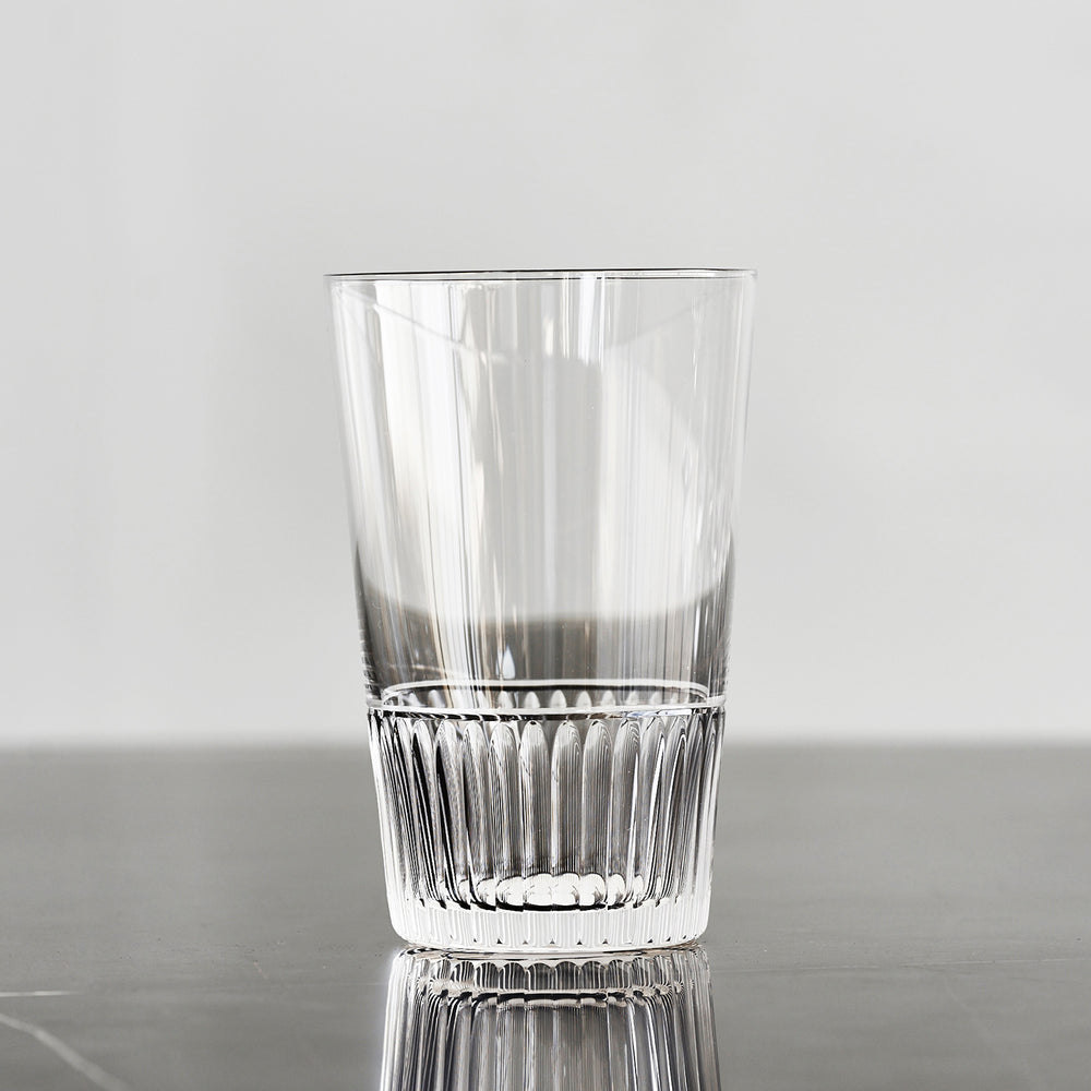 Haruya Hiroshima Fluted Base Soda Glass